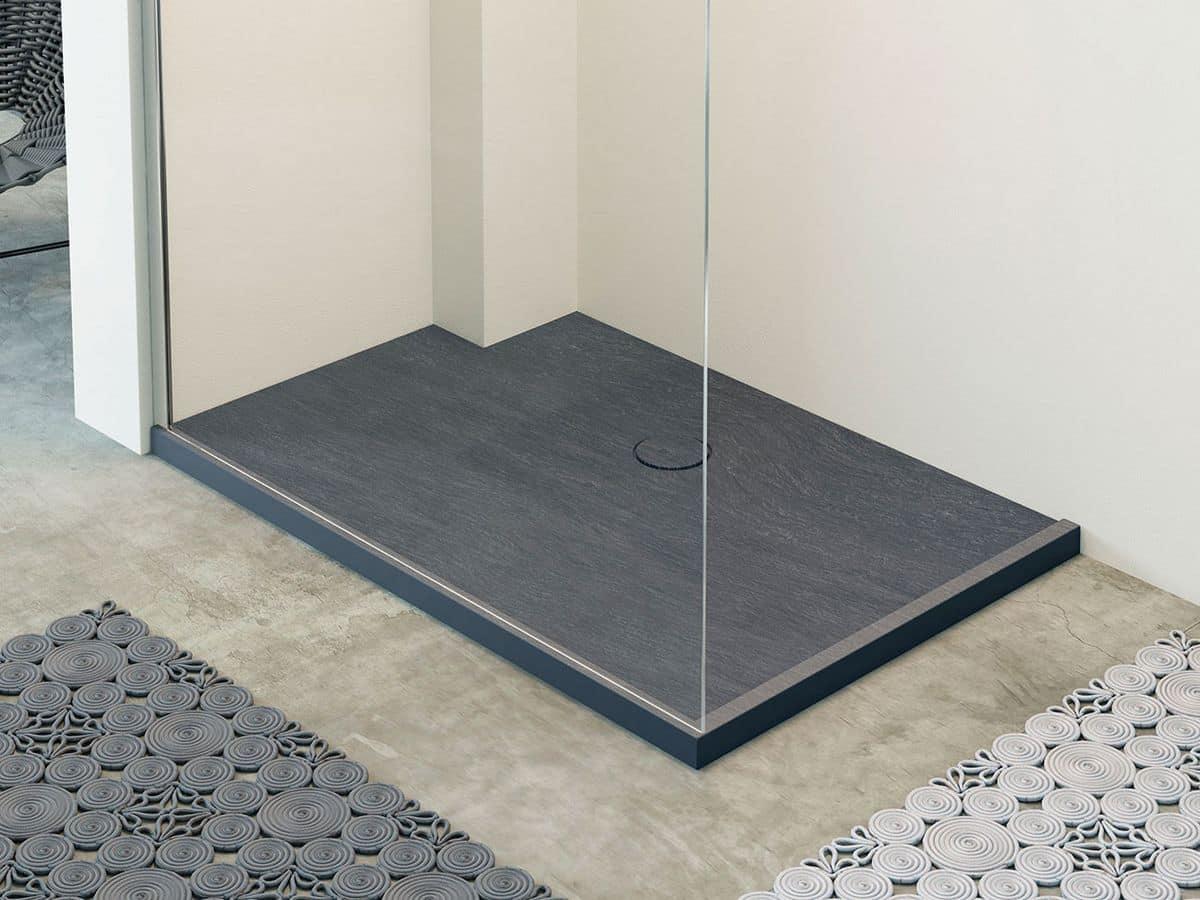 Célèbre Piatto doccia in mineralite, effetto pietra naturale, in vari  PI55