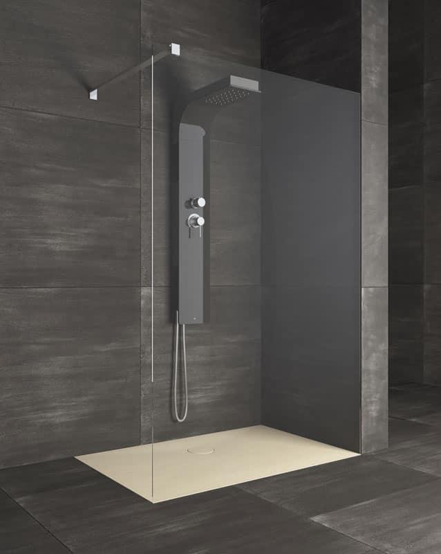 Piatto per doccia stile lineare per bagno hotel idfdesign - Pareti doccia in resina ...