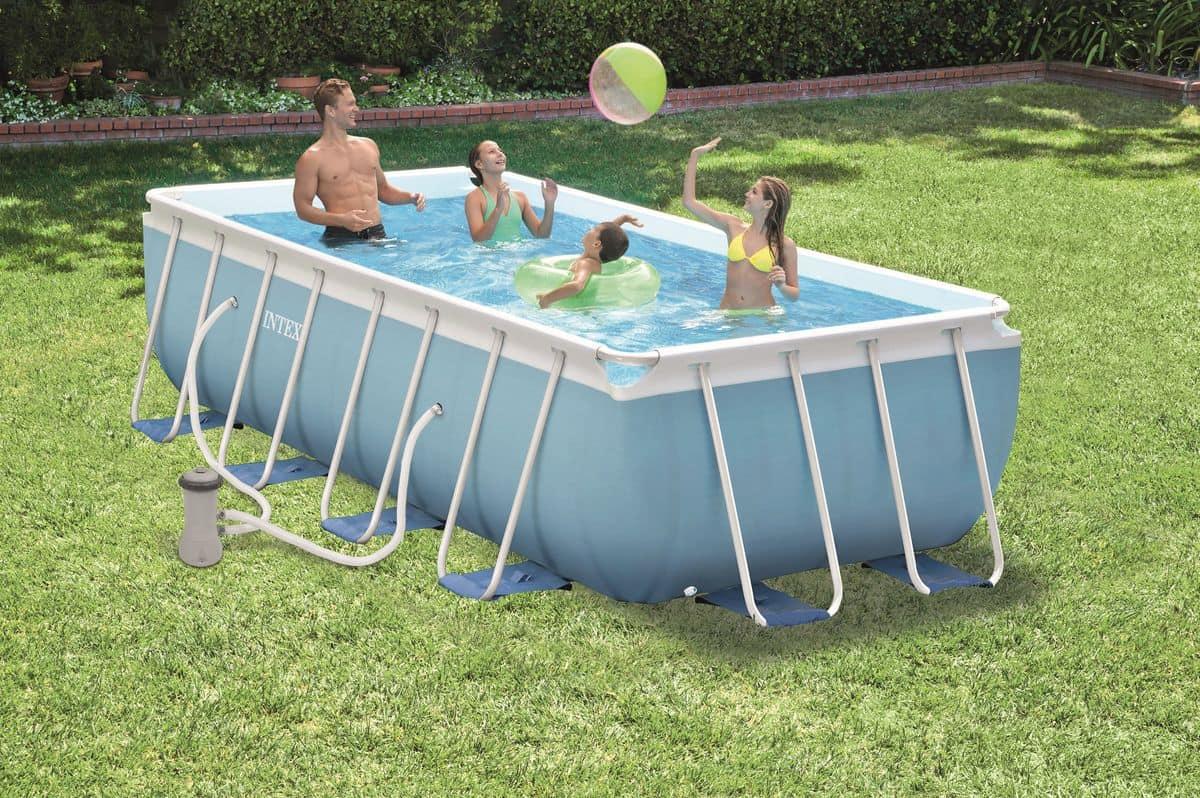 Piscina fuoriterra gonfiabile in acciaio e pvc idfdesign for Destockage piscine