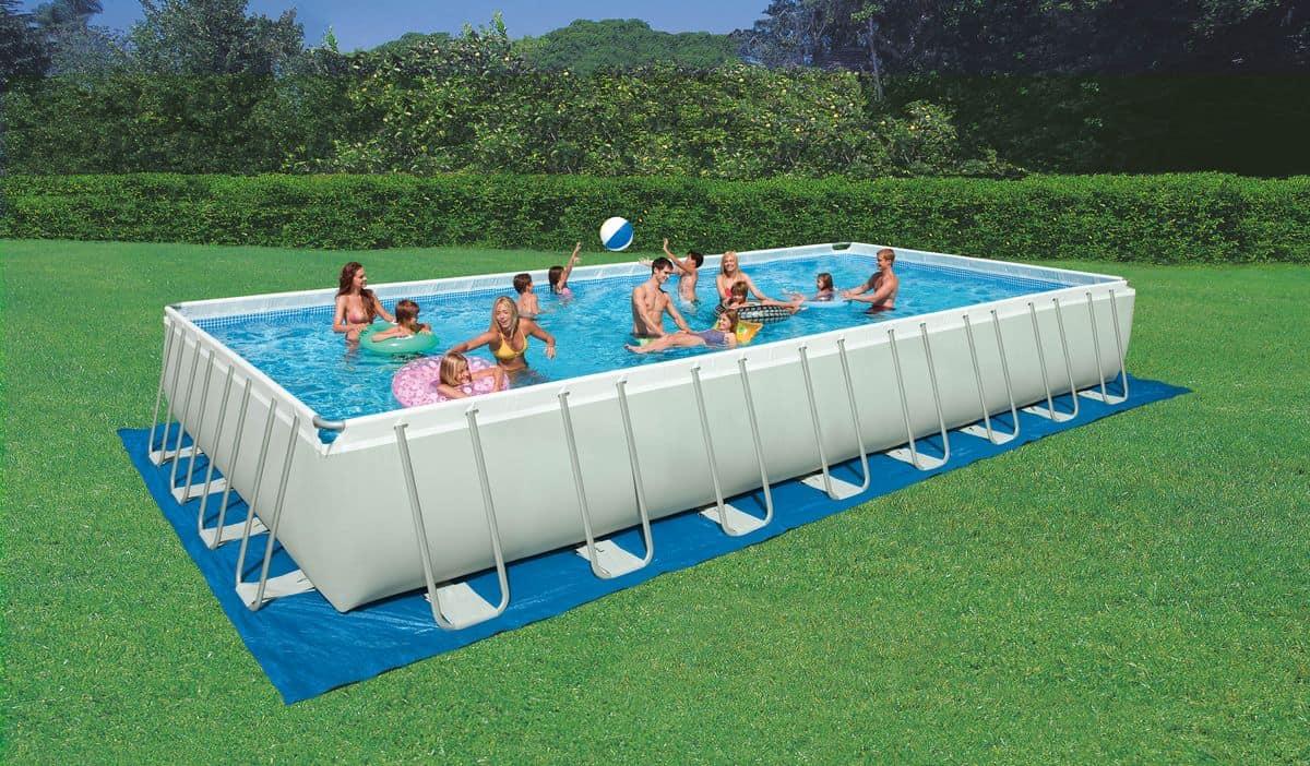Piscina fuori terra rettangolare per esterni idfdesign for Prezzi piscine intex