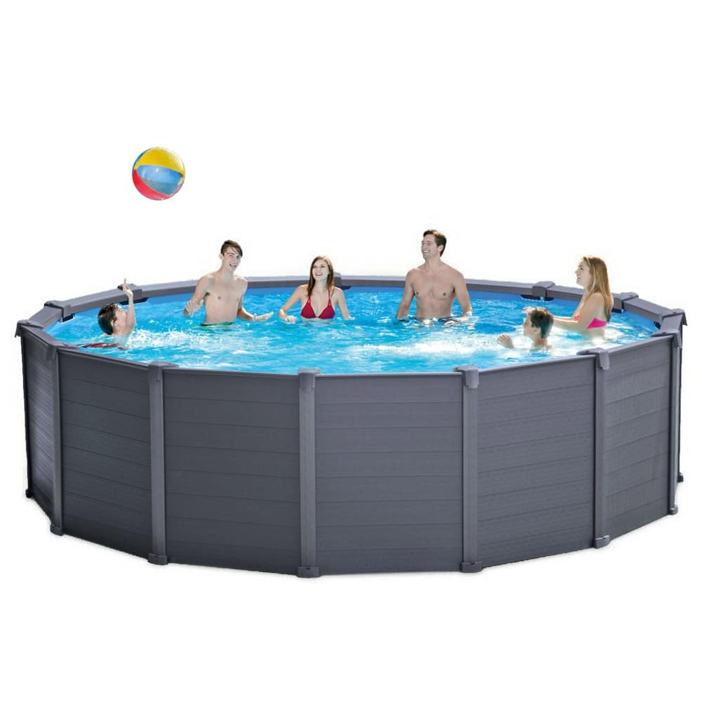 Piscina fuori terra con pannelli in resina dura idfdesign for Piscine intex amazon