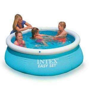 Intex 28101 Easy Set piscina fuori terra gonfiabile rotonda 183x51 - 28101, Piscina gonfiabile per giardino