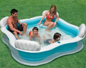 Intex 56475 piscina gonfiabile 4 Sedili spa - 56475, Piscina quadrata gonfiabile da 4 posti