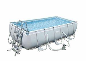 Piscina fuori terra Bestway 56441 Rettangolare Power Steel 404x201x100cm - 56441, Robusta piscina fuori terra