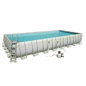 Piscina fuori terra Bestway 56623 rettangolare 956x488x132cm steel frame - 56623, Ampia piscina da giardino