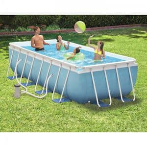 Piscina quadrata fuori terra con pvc di 3 strati idfdesign for Piscina intex 975x488x132