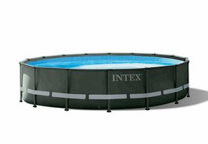 Piscina Intex 26326 Ultra XTR Frame Fuori Terra 488x122cm Rotonda - 26326, Robusta e solida piscina fuori terra