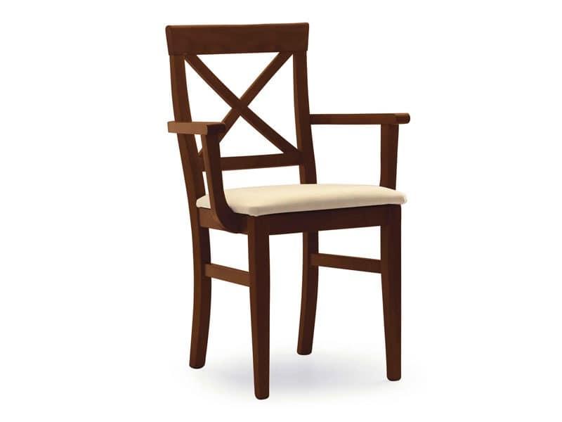 Sedia con braccioli alberghi idfdesign for Poltroncine eleganti