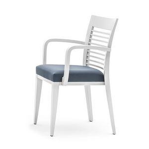 Logica 00925, Poltroncina da pranzo, impilabile e con seduta imbottita