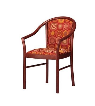 Sedia con braccioli elegante imbottita in faggio per - Sedia imbottita con braccioli ...