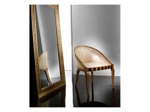 MIMI' poltroncina 8285A, Poltroncina elegante in faggio, con intarsi originali