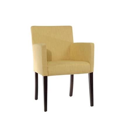 Poltroncina imbottita, stile lineare, per soggiorno moderno ...