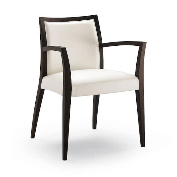 Sedia con braccioli imbottita ristorante idfdesign for Sedie con braccioli