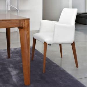 ART. 253/B INES, Poltroncina moderna, imbottita, gambe in legno