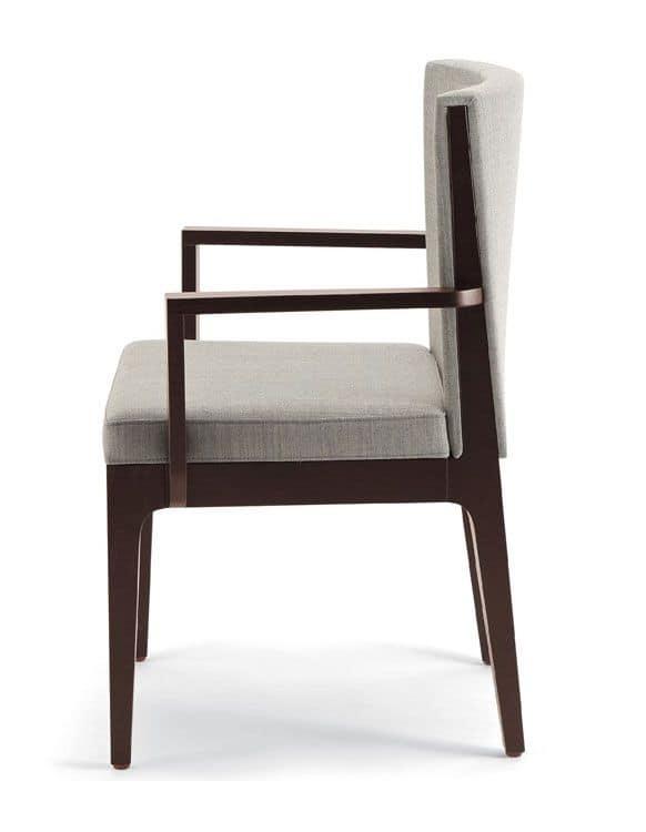 Sedia con braccioli in frassino per bar e ristoranti for Sedie design con braccioli