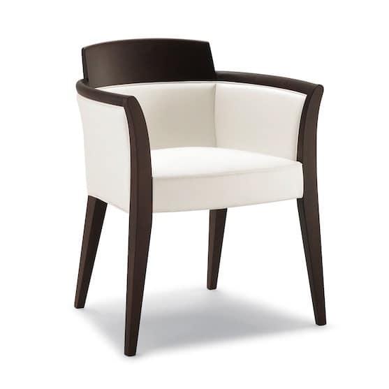 Dejavu poltroncina 8632a sedia con braccioli imbottita ristorante idfdesign - Sedia imbottita con braccioli ...
