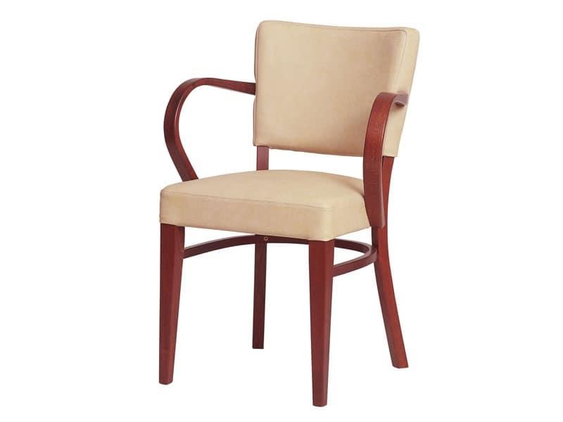 Sedute sedie moderne legno seduta e schienale imbottiti for Sedie con braccioli