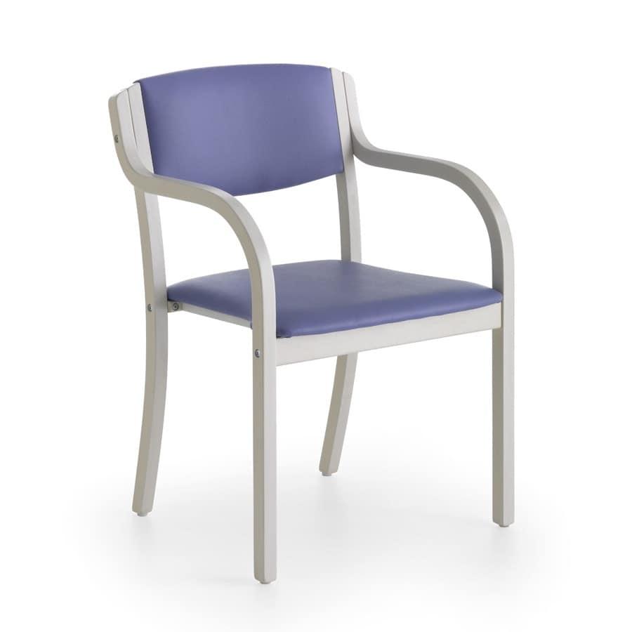 Sedia imbottita con braccioli con colori vivaci per - Sedia imbottita con braccioli ...