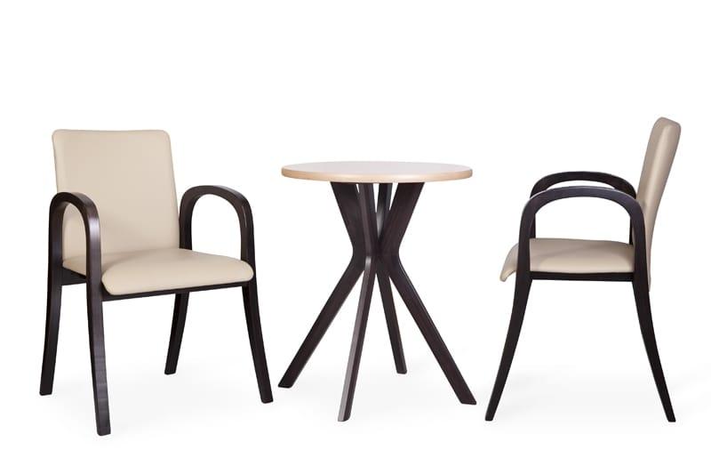 Sedia imbottita con braccioli, per alberghi moderni   IDFdesign