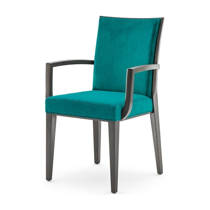 Sedia con braccioli per sala da pranzo idfdesign for Poltroncine sala da pranzo