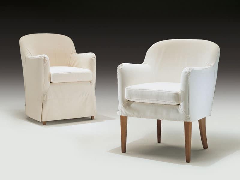 poltroncina moderna in legno e poliuretano per uso