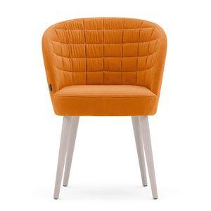 Rose 03034, Poltroncina con sedile cinghiato, per uso contract