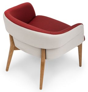Susi lounge, Poltroncina lounge con rivestimento bicolor