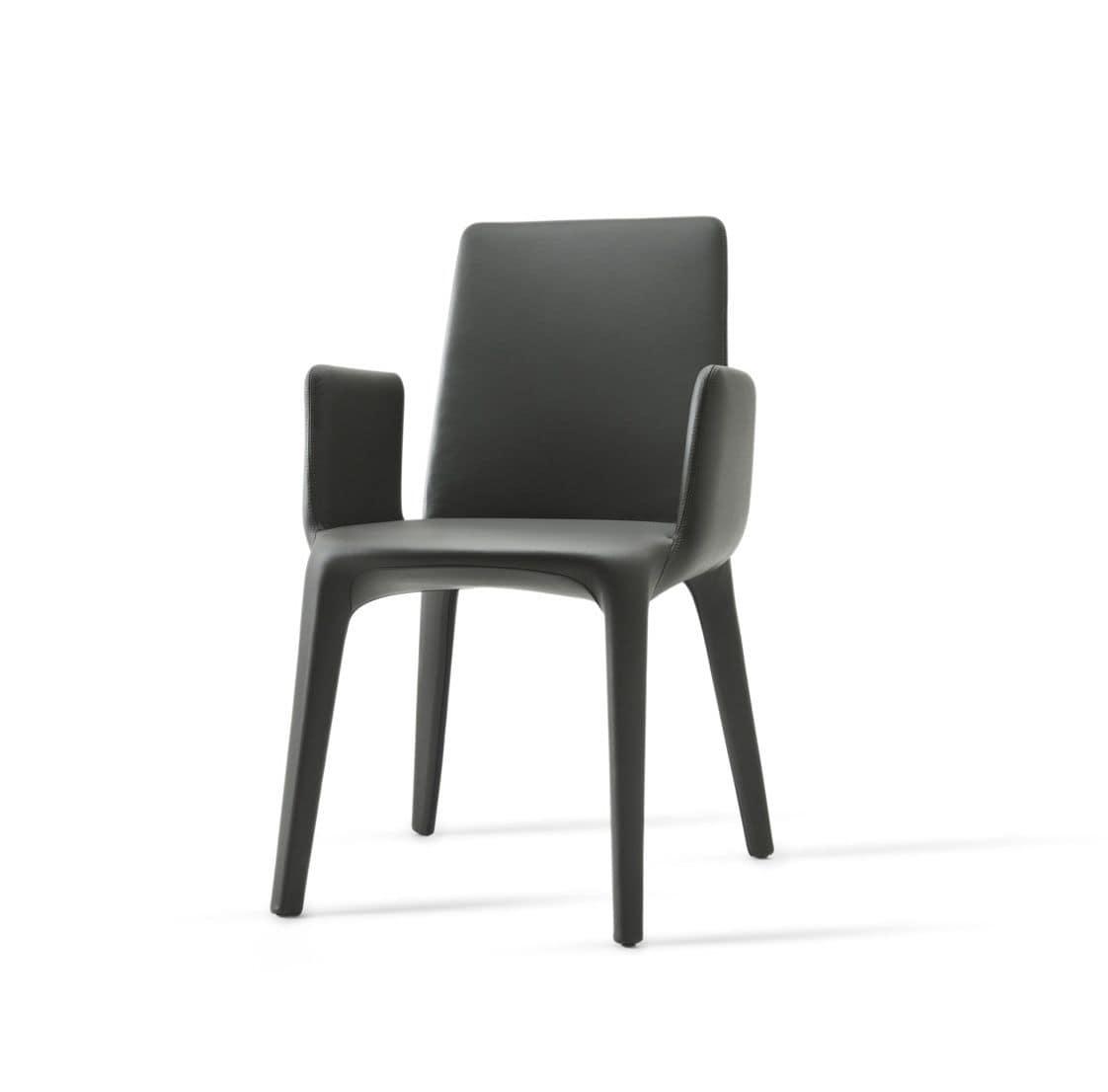 Karma armchair poltroncine moderne interamente rivestite for Poltroncine sala da pranzo