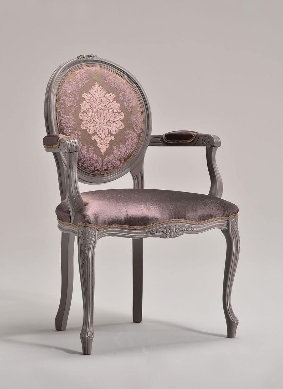 Sedia in stile Luigi XV, schienale ovale, per alberghi | IDFdesign