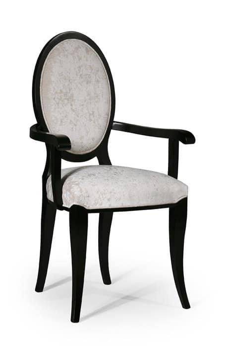 sedia classica imbottita con schienale ovale idfdesign
