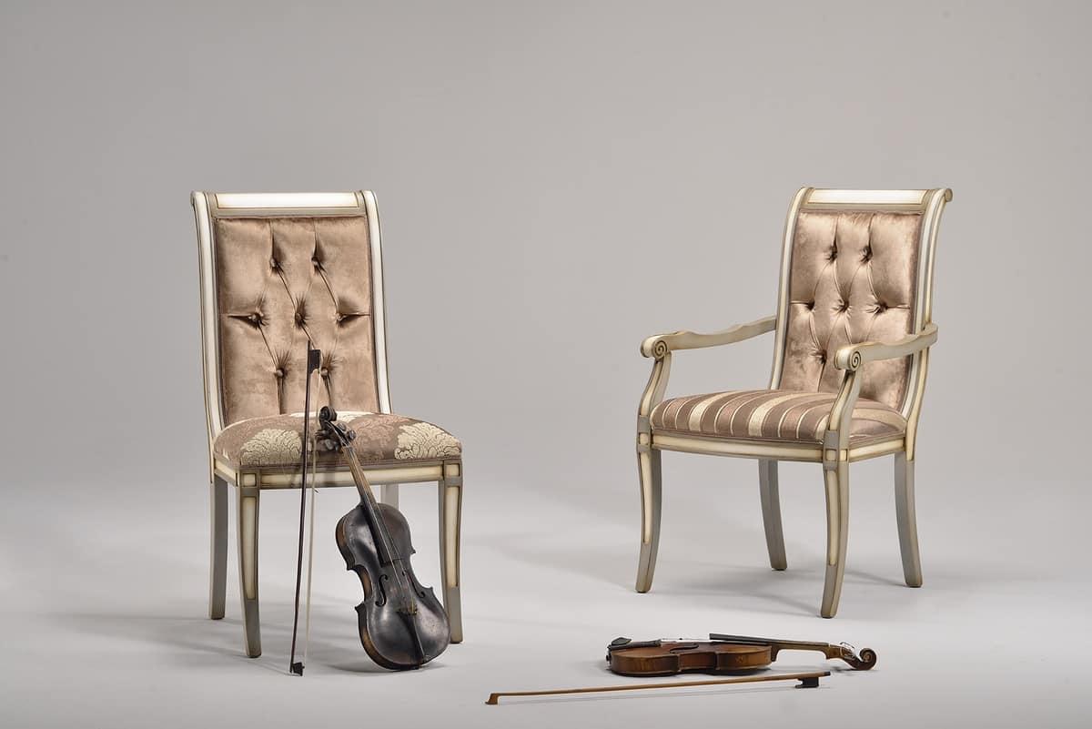 Sedie Classiche Per Camera Da Letto : Sedia classica in faggio vari colori per camera da letto idfdesign