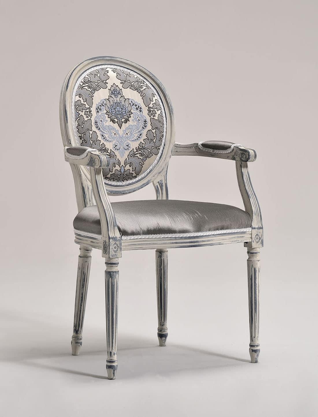 Sedia capotavola, stile Luigi XVI, personalizzabile | IDFdesign