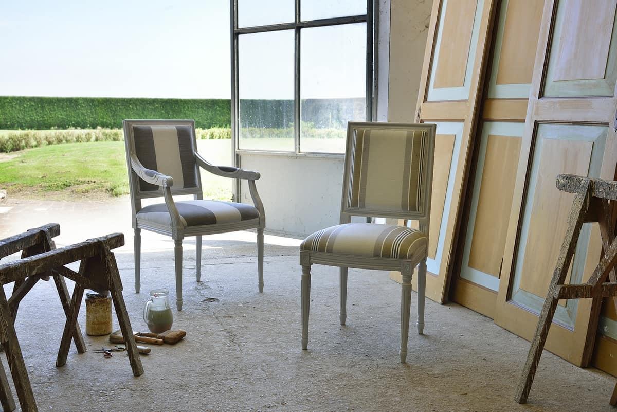 Sedia capotavola, in faggio massello, per sale da pranzo | IDFdesign
