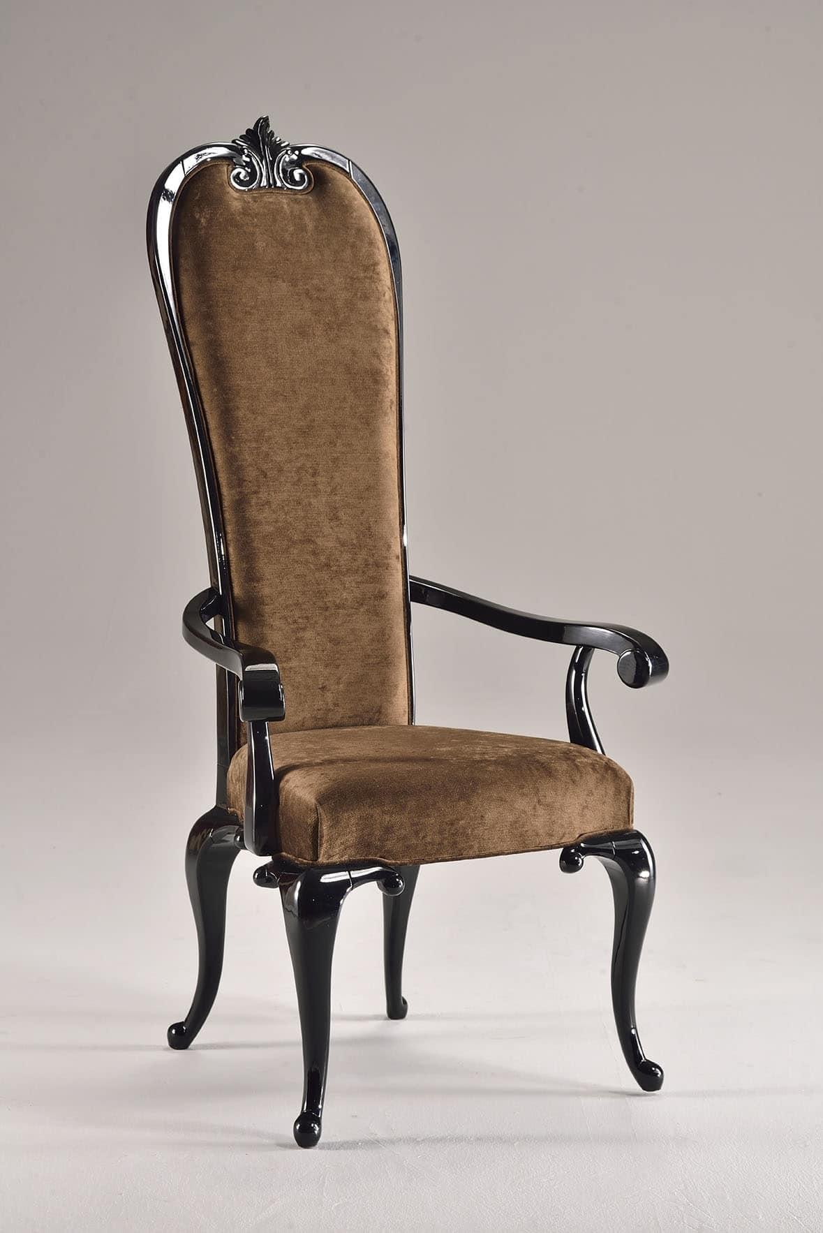 Poltroncina imbottita schienale alto stile neoclassico for Design stuhl barocco
