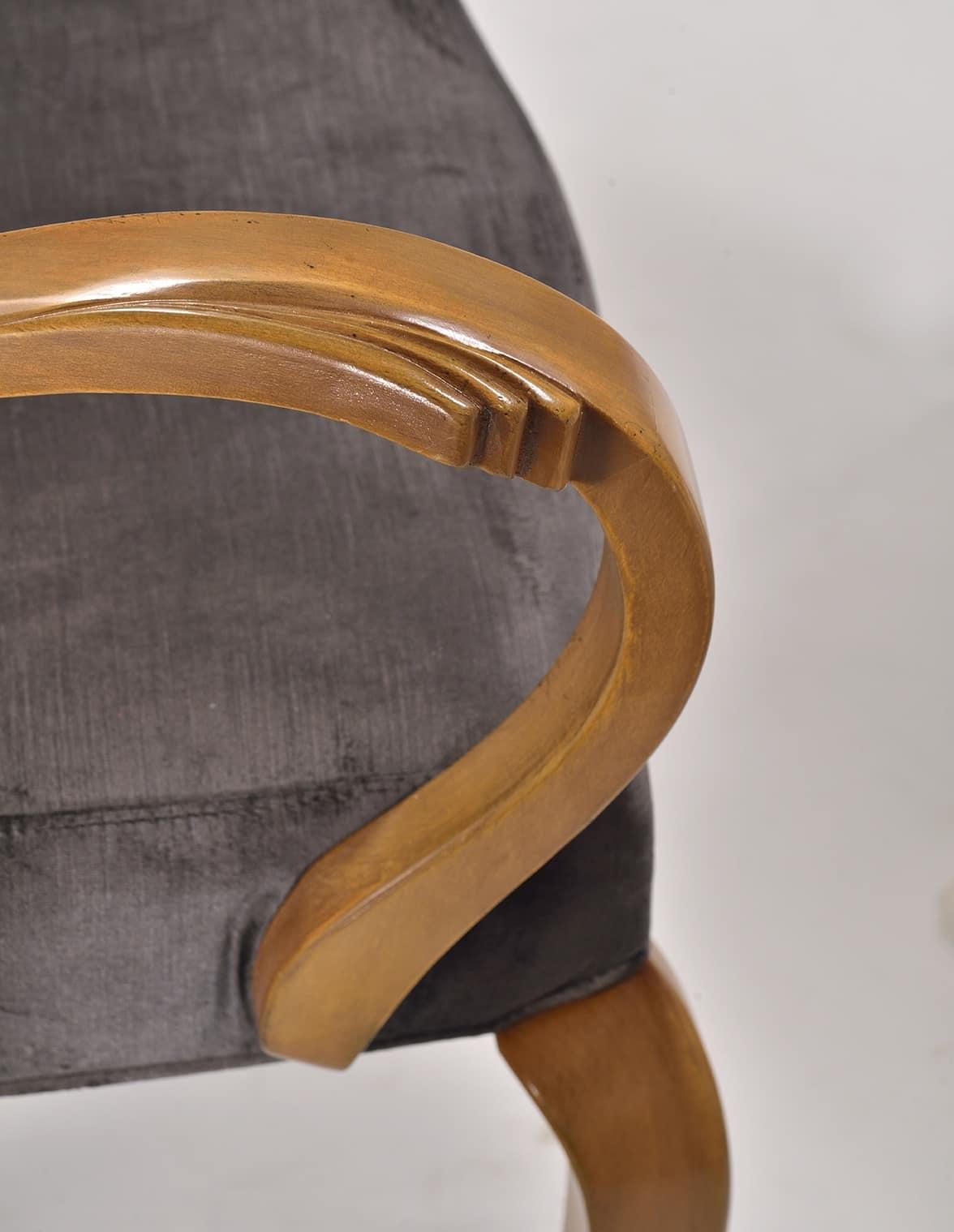WAVE poltroncina 8624A, Sedia imbottita, con braccioli, per ristorante di lusso