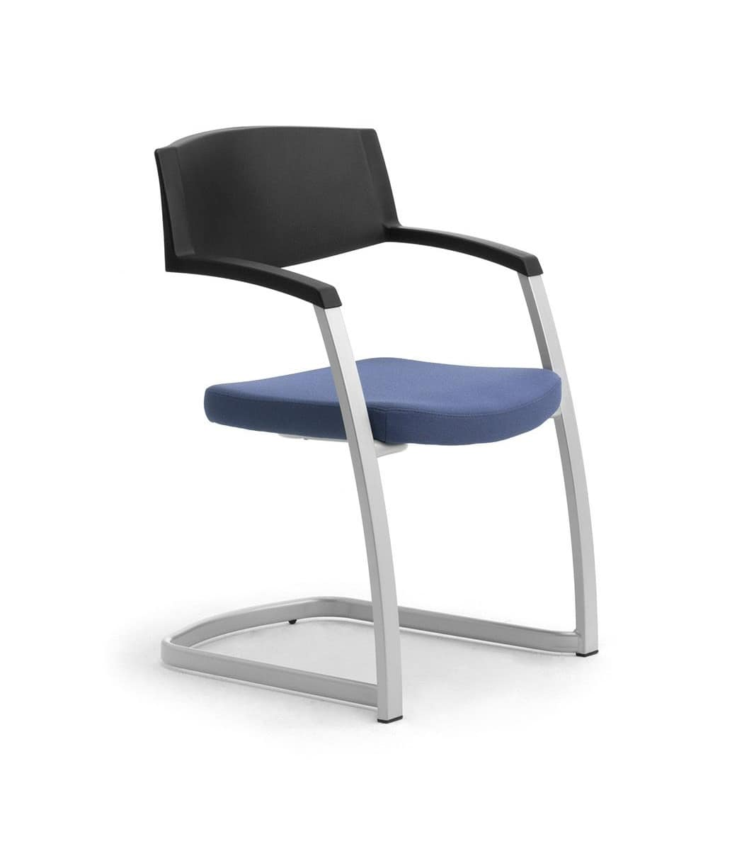Sedia con base a slitta per uffici e sale riunioni for Sedia per sala d attesa