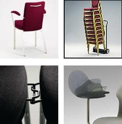 Vario-Allday 21/4A, Sedia moderna per conferenze, impilabile, seduta anatomica
