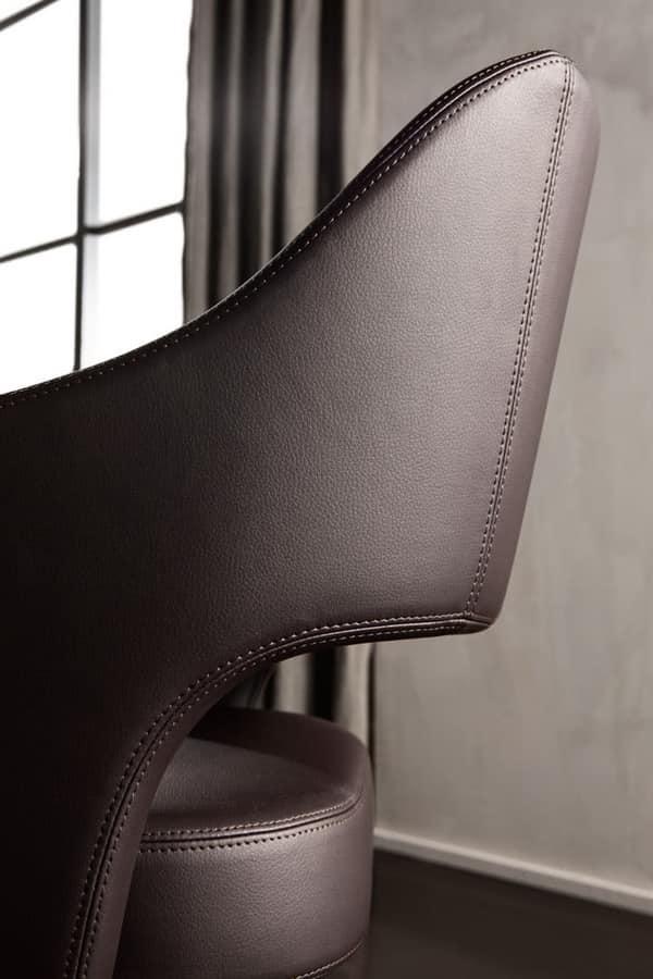 Adria sedia, Sedia dal sapore vintage, con rivestimento personalizzabile