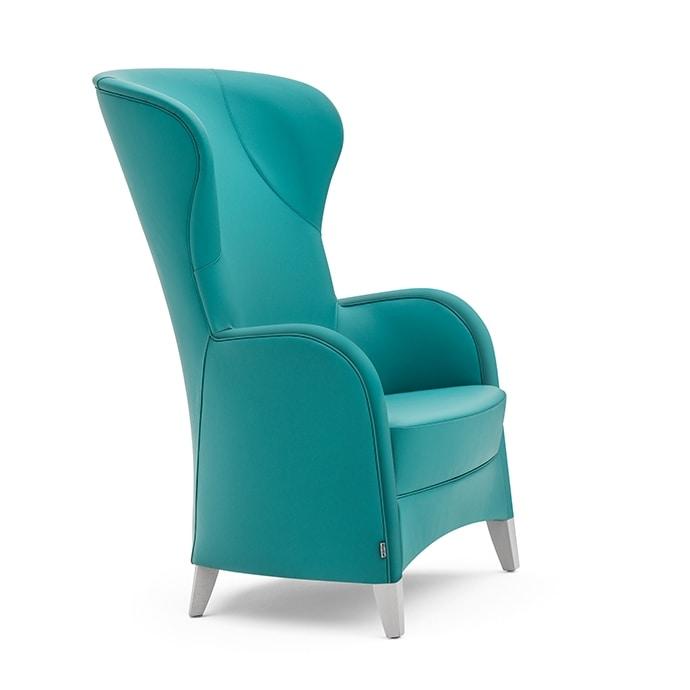 Euforia 00145, Poltrona lounge con schienale alto