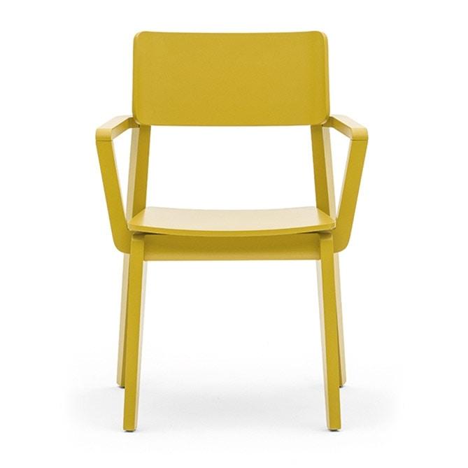 Sedia in legno massiccio, con braccioli, in stile moderno  IDFdesign