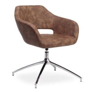 Regan, Poltroncina con seduta girevole ideale per uffici