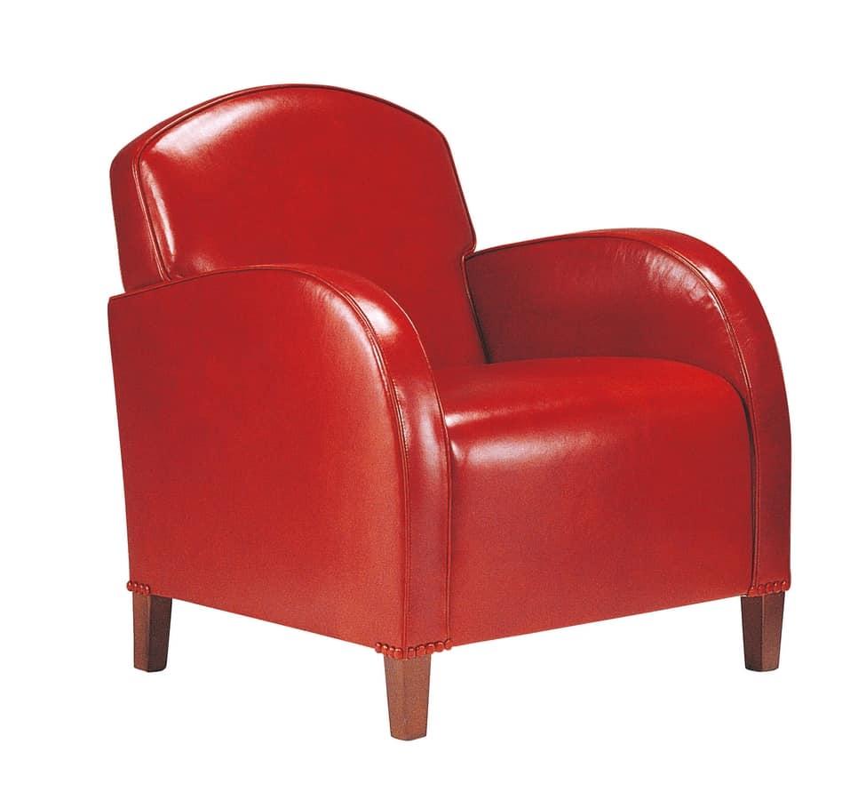 Poltroncine In Pelle Moderne.Poltrona In Pelle Rossa Idfdesign