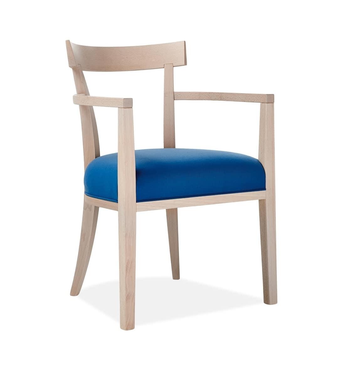 Poltroncina con braccioli con struttura in legno idfdesign for Sedex sedie