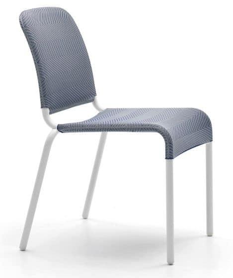 Sedia per esterno seduta e schienale in tessuto elastico for Poltroncine outdoor