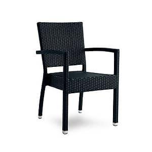 Sedia in alluminio e rattan intrecciato per esterni - Sedie in rattan per esterni ...