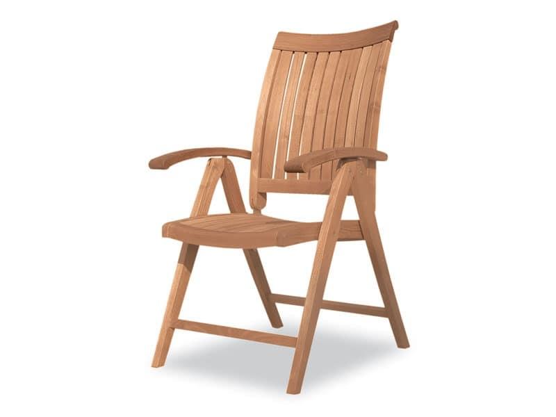 Harmony poltrona multiposizioni, Sedia in legno, multiposizioni, per esterni