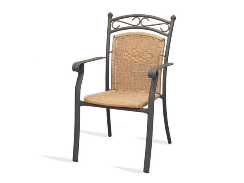 PL 406, Sedia con braccioli, intrecciata, per hotel e ristoranti