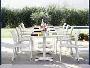 Victor sedia con braccioli, Sedia con braccioli, in alluminio, per giardini e terrazzi