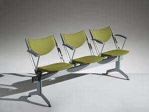 CONPASSO 2, Seduta su barra con braccioli e sedile ribaltabile