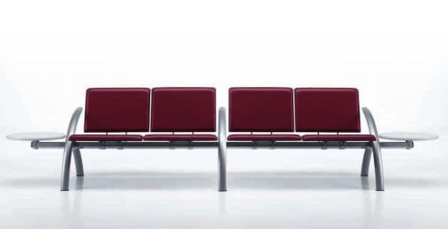 LAMTOP 724 B2T, Sedute su barra ideali per aereoporti e stazioni